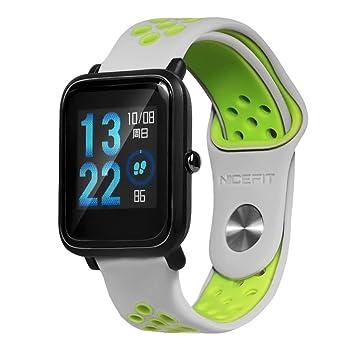 para Huami Amazfit Bip Youth Watch,Pulsera Ligera Ventilation Wristband Correa de Reloj Absolute (Gris)