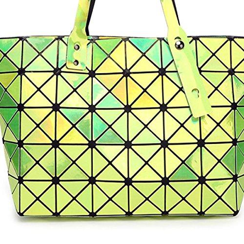 à Mme Main Matelassé Green Sac à Sac Géométrique Bandoulière Mosaïque OHWBIHqr7