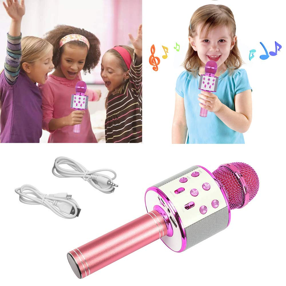 CYKT Toys Gifts for 3-12 Year Old Girls,CYTK Kids Wireless Portable Handheld Bluetooth Karaoke Microphone - Best Birthday Gifts by CYKT (Image #2)