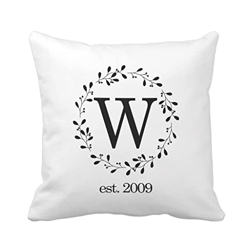 Amazon Monogrammed Throw Pillow Cover Farmhouse Style 40x40 Interesting Monogrammed Throw Pillow Covers