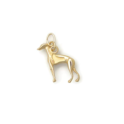 Donna Pizarro Designs 14kt White Gold Italian Greyhound Charm
