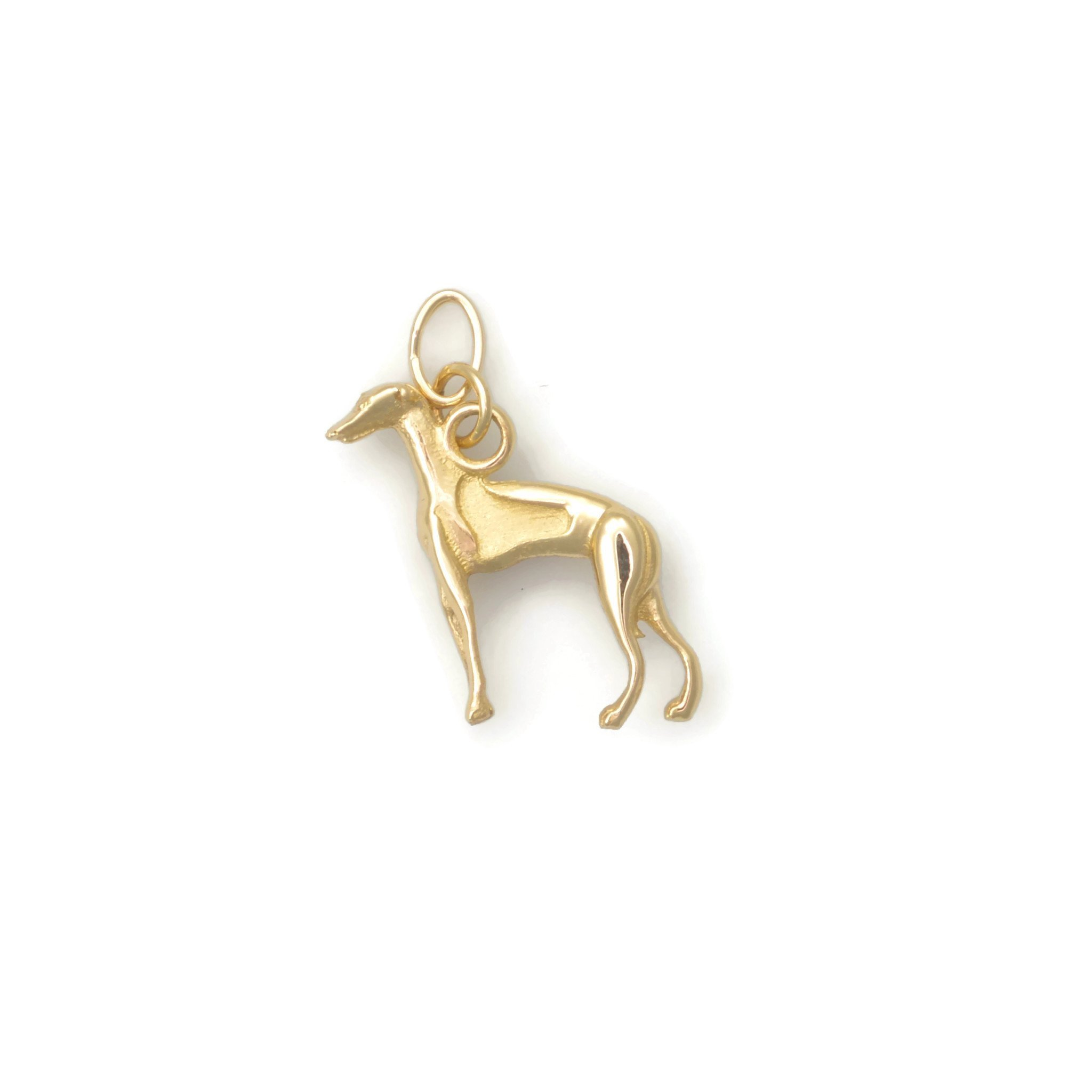 14Kt Italian Greyhound Charm by Donna Pizarro from her Animal Whimsey Collection of 14Kt Gold Italian Greyhound Jewelry & Gold Italian Greyhound Charms by Donna Pizarro Designs