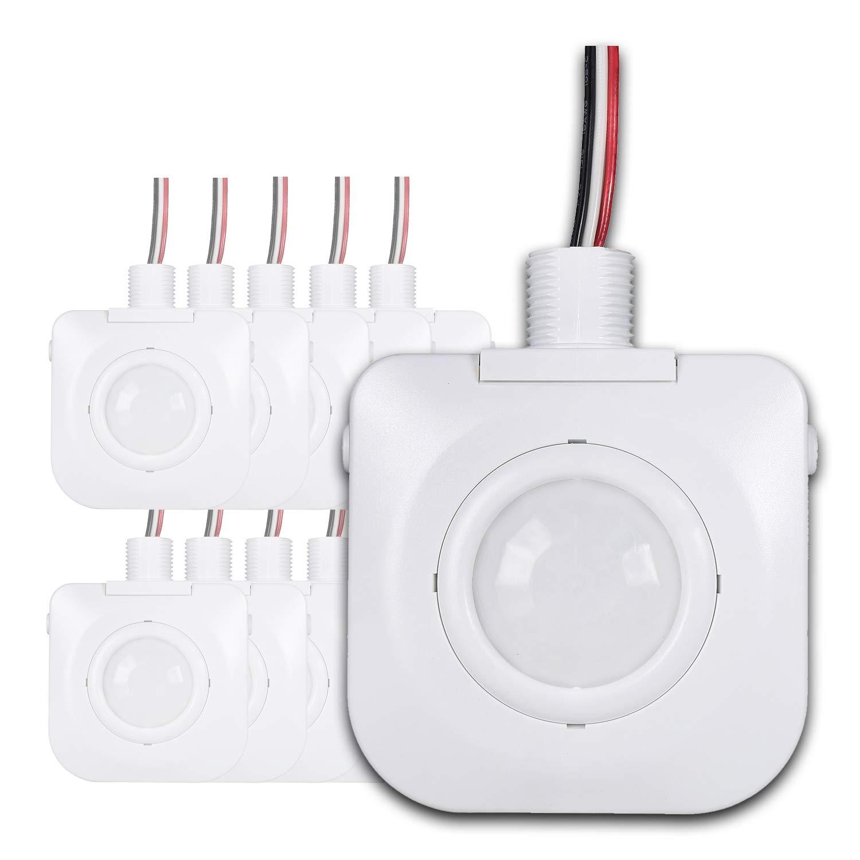 [宅送] 天井占有モーションセンサー – 277 パッシブ赤外線テクノロジー – ホワイト 高ベイ器具マウント360度 – by Dependable直接 –、hard-wired、120 – 277 VAC、商業/工業グレード、ホワイト ホワイト GSDYTD1WT10 B07JK83MTQ ホワイト, ヒガシドオリムラ:2b9cb5c1 --- a0267596.xsph.ru