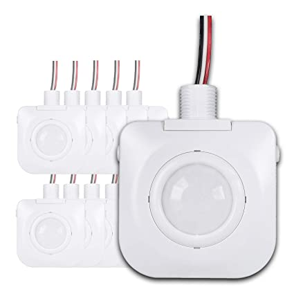 (Pack of 10) Ceiling Occupancy Motion Sensor - Passive Infrared Technology - High Bay
