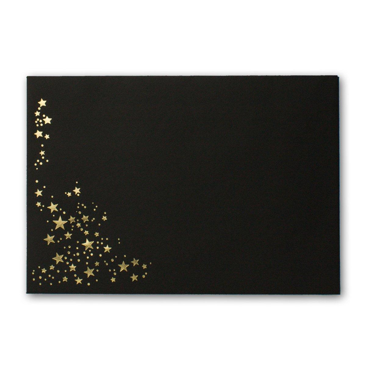 300x Weihnachts-Briefumschläge     DIN C6   mit Gold-Metallic geprägtem Sternenregen  Farbe  Sandbraun  Nassklebung, 120 g m²   114 x 162 mm   Marke  GUSTAV NEUSER® B07CP26JXM | Hervorragende Eigenschaften  | Komfort  | Hat einen langen 055af7