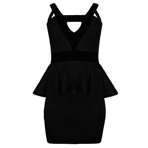 Black Peplum Dress Amazon