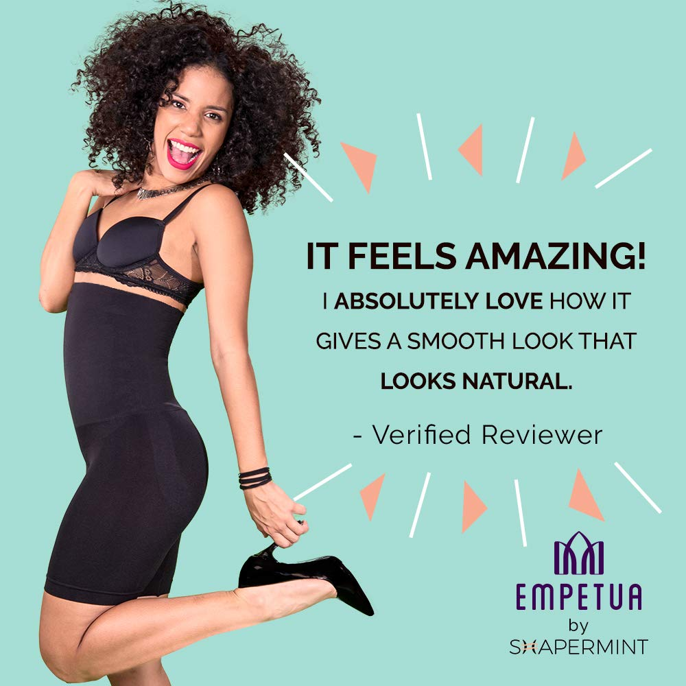 a1908121797 Shapermint  Empetua All Day Every Day High-Waisted Shaper Shorts - Body  Shaper  Amazon.co.uk  Clothing