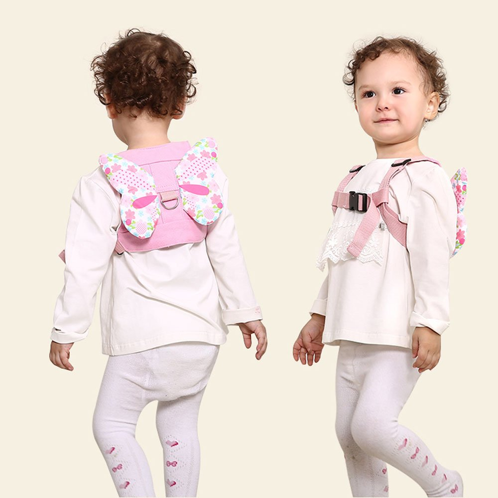 Anti Lost Wrist Link + Toddlers Leash 2 packs Child Walking Safety Harness Kids Wristband Assistant Strap Belt (Butterly pink) by Standard (Image #5)