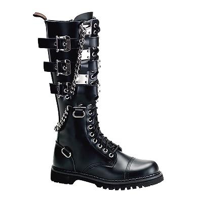 23 Ranger Gothic Punk Demonia Gravel Industrial Stiefel DeHWIE29Y