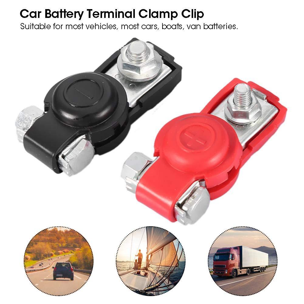 Batterieverteilungsklemme Universal-Autobatterieklemmen Kabelklemmen mit Schutzabdeckung 2-tlg