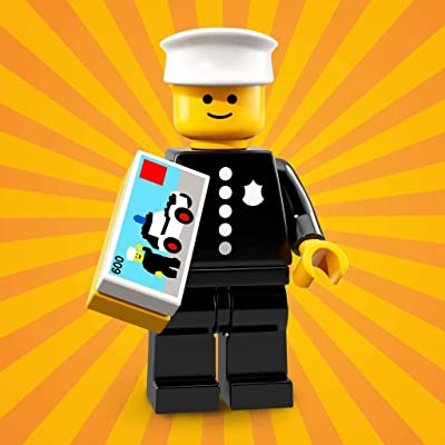 LEGO Series 18 Collectible Party Minifigure - Retro Police Officer 1978 (71021): Toys & Games