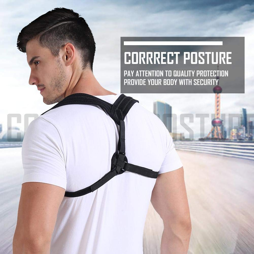 Back Brace Posture Corrector for Women & Men - Adjustable Posture Support for Shoulders - Back Pain Relief - Kyphosis Clavicle Brace Support Medical Device - Chest Support - Upper Back Pain -(L-XL)