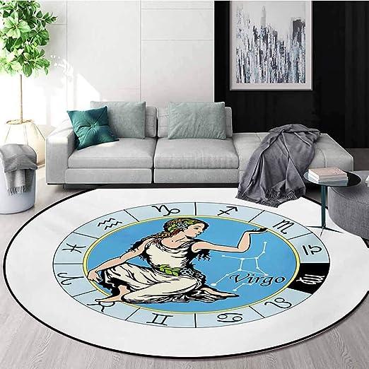 Hippo In A Skirt Round Floor Mat Area Rugs Bedroom Carpet Livingroom Rug Decor