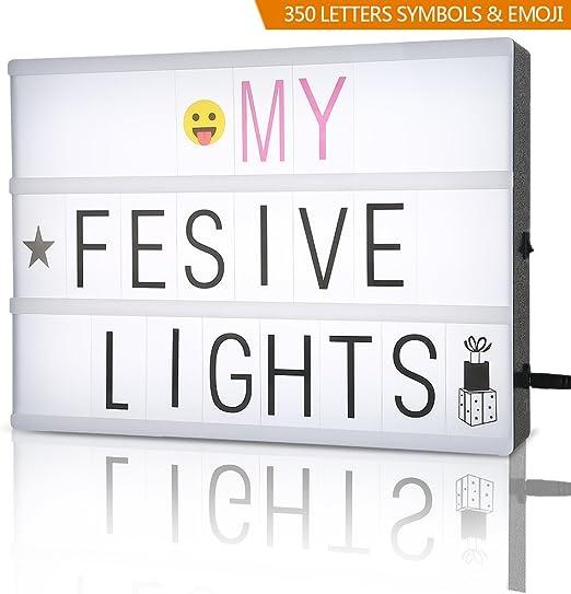 Caja luminosa con letras: Amazon.es: Hogar
