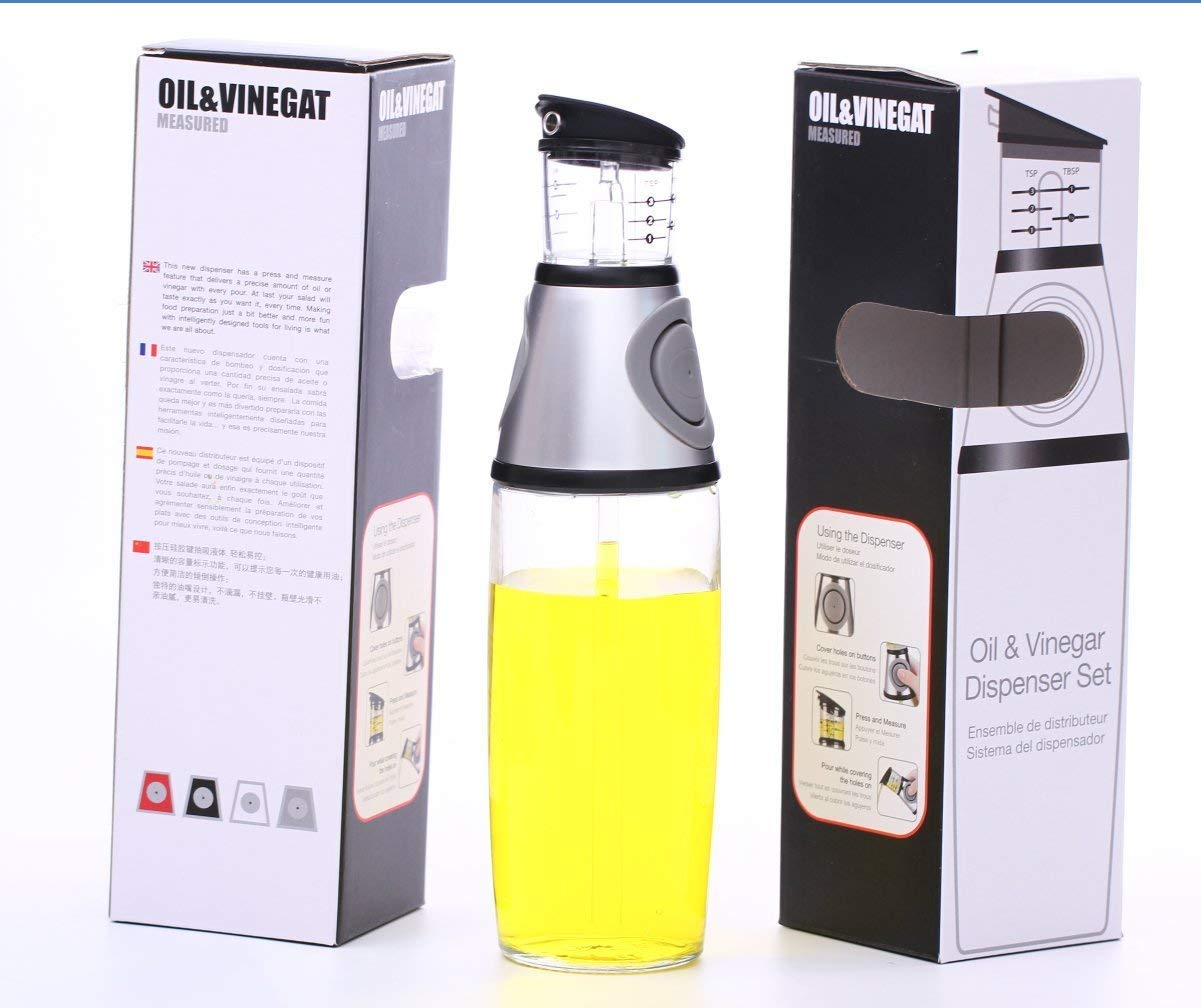 Amazon.com: Olive Oil Dispenser Bottle - MAXZONE Oil Spray Bottle with NoOil Pourer Dispensing Bottles for Kitchen - Olive Oil Glass Dispenser to Measure ...