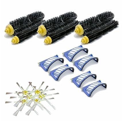 Kit Large Serie 600 cepillos 6 brazos y filtros para iRobot Roomba ...