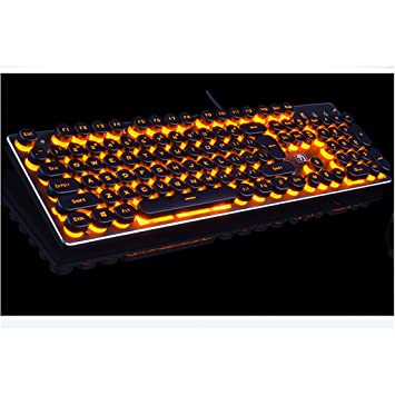 Mingteng Gaming Keyboard Illuminated Keyboard LED retroiluminada para PC Gamer Teclado retroiluminado (Color : Orange): Amazon.es: Hogar
