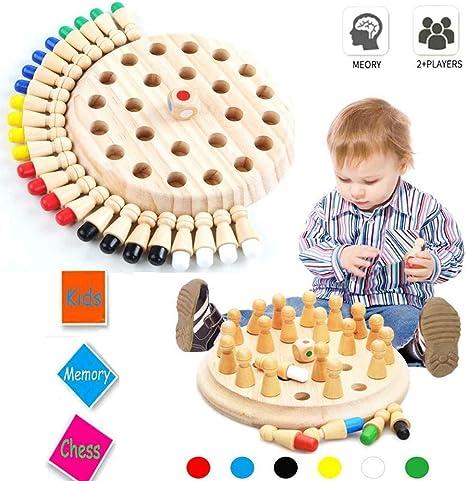 T.Face Memory Match Stick Chess, Juego de Fiesta para niños Wooden Memory Match Stick Juego de ajedrez Diversión Bloque Juego de Mesa Juguete Educational Parent-Child Leisure Fun Toy: Amazon.es: Hogar