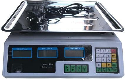 40KG 88LB Bilancia elettronica per il calcolo del prezzo