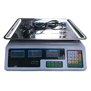 081 Store 2 PEZZI BILANCIA ELETTRONICA DIGITALE PROFESSIONALE MAX 40 KG CON DISPLAY NUOVO