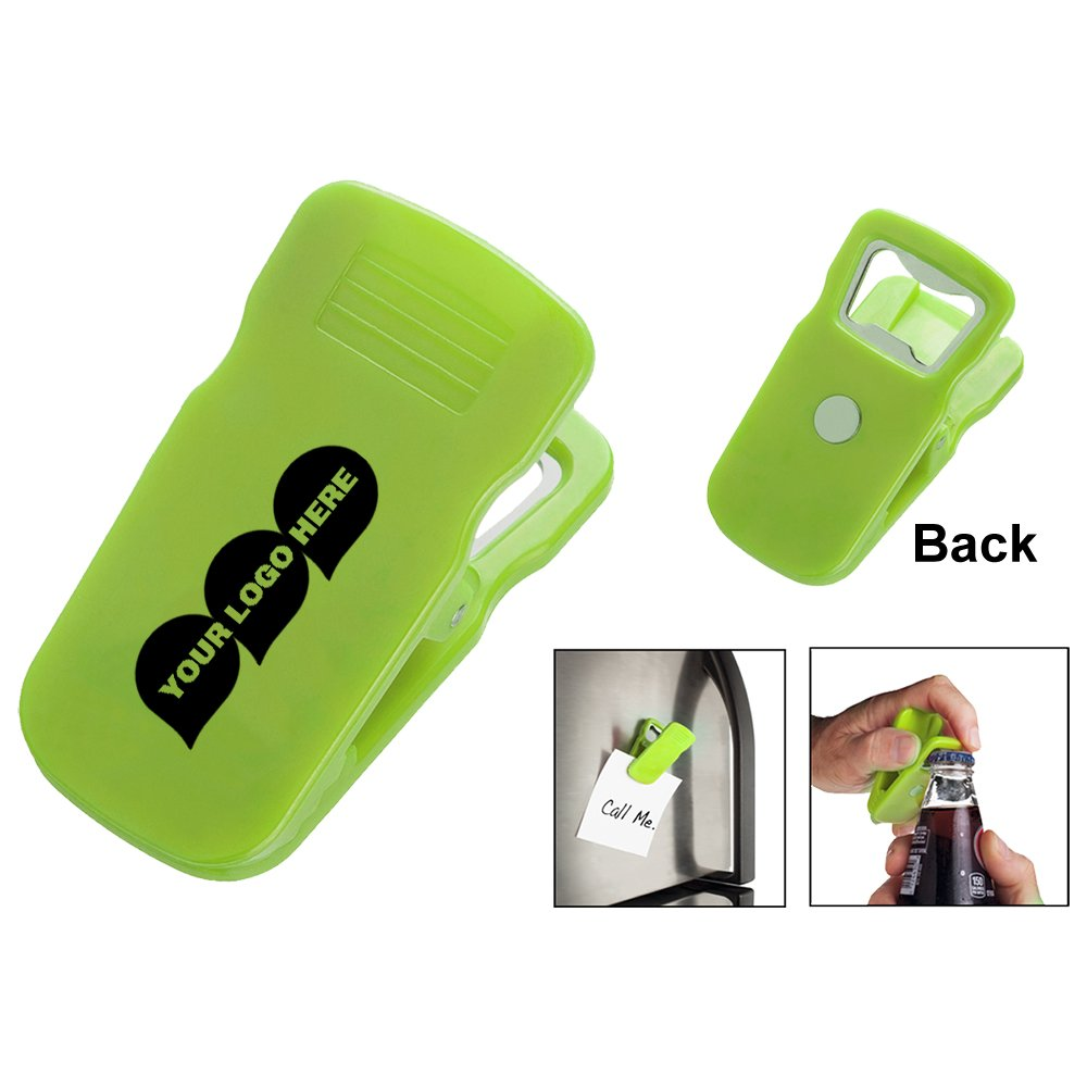 Magnetic Bottle Opener Clip - 500 Quantity - $0.65 Each - PROMOTIONAL PRODUCT / BULK / BRANDED with YOUR LOGO / CUSTOMIZED