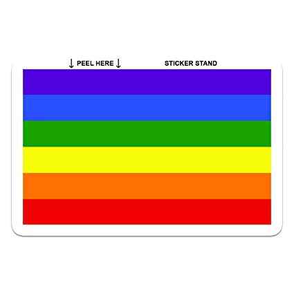 Gay pride rainbow flag car bumper sticker decal 5