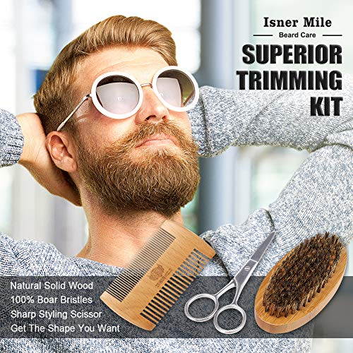 Isner Mile Beard Kit for Men, Grooming & Trimming Tool Complete Set with Shampoo Wash, Beard Care Growth Oil, Balm… 6