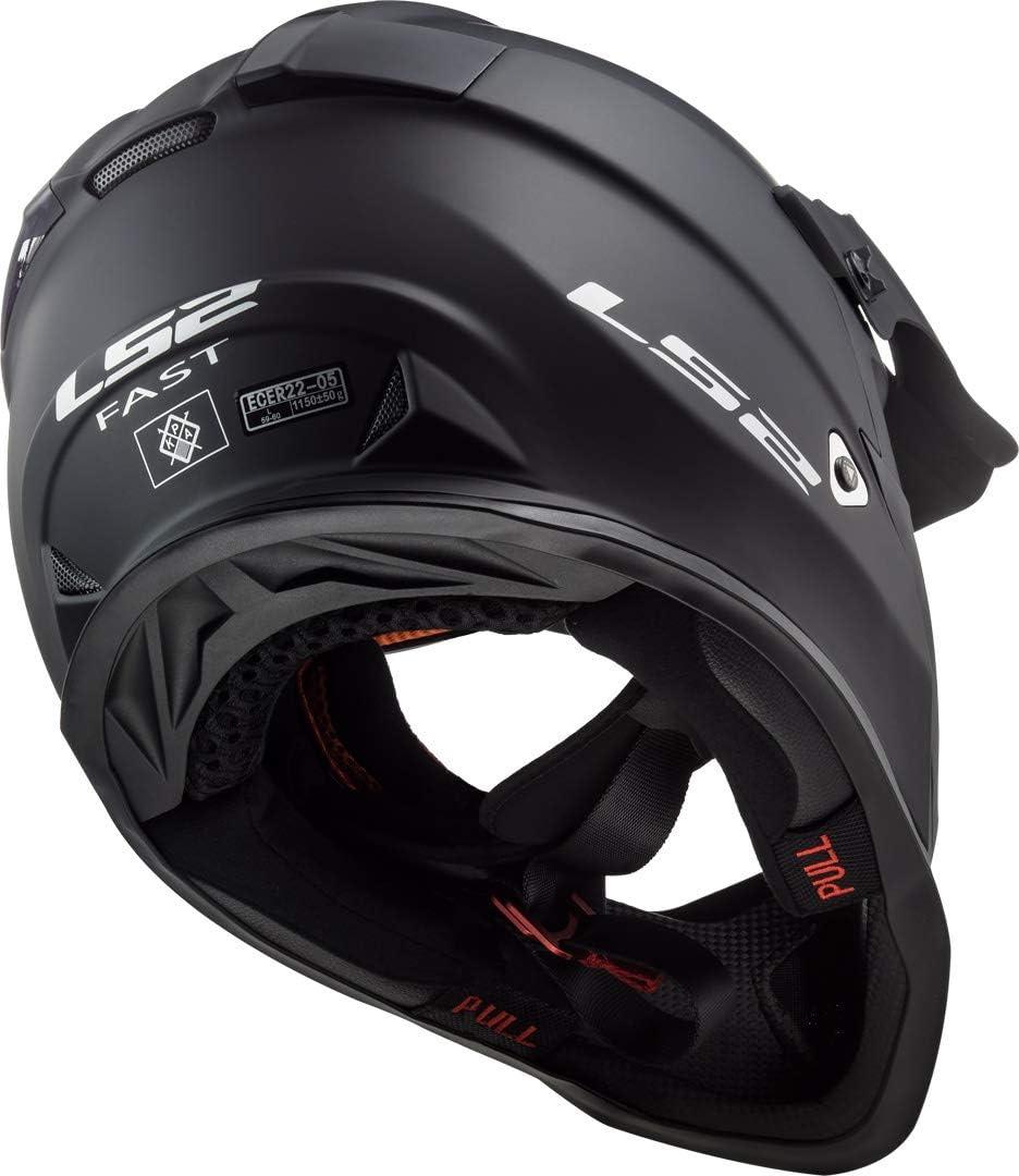 LS2 Fast MX437 Solid Motocross Helm XXS