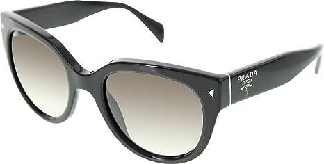 def97d2323 Image Unavailable. Image not available for. Colour  Prada Women s Gradient  PR17OS-1AB0A7 Black Round Sunglasses