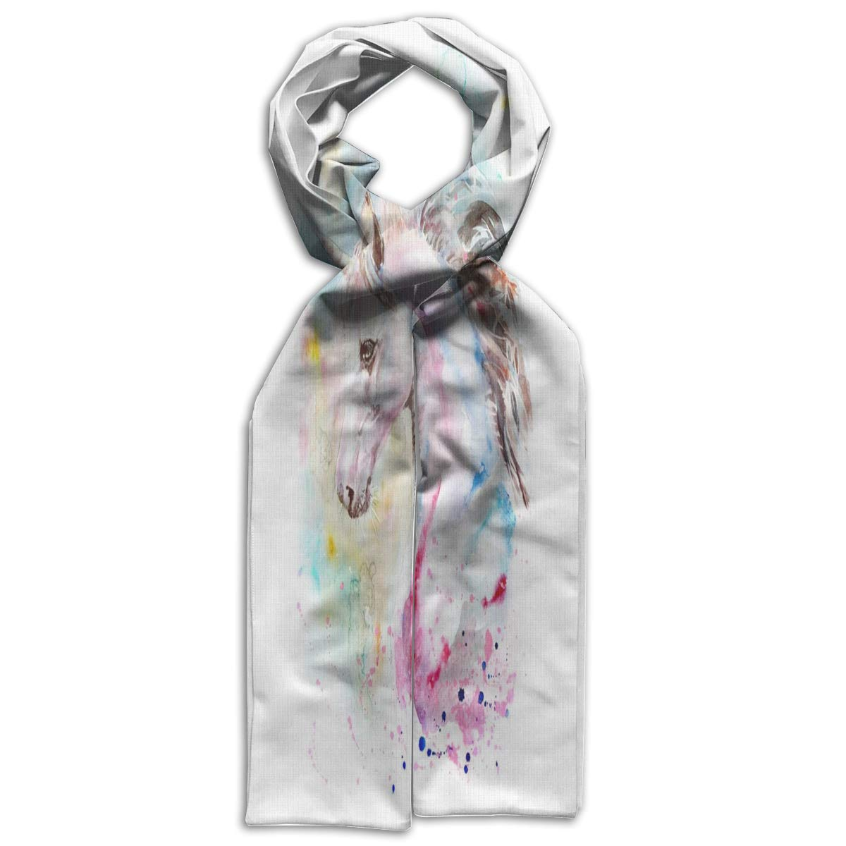 Kids Scarf Unicorn Watercolour Rainbow Muffler Winter Warm Gift For Girls