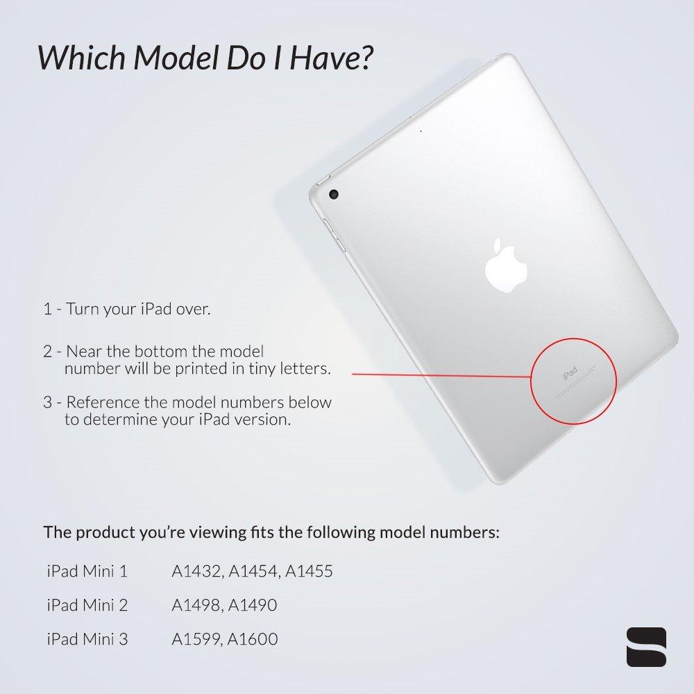 iPad Mini clavier Housse sans fil on//off automatique Folio Snugg Apple iPad Mini clavier Bluetooth Coque Smart r/étro/éclair/é
