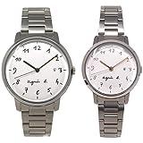 アニエスベー 時計 ペアウォッチ FCRK991 FCSK935 ペア ホワイト シルバー メンズ レディース アニエス 腕時計