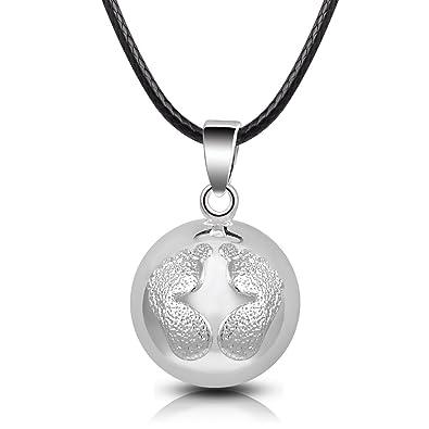 Eudora Harmony Ball Llamador de Angeles Embarazada, Colgantes Mujer Collar Música Timbre Bell Mujeres Joyas Niñas, Damas, Profesor, Madres y Hermanas, ...