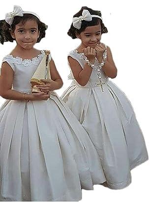 Mxgirls Madchen Erste Kommunion Kleid Pageant Kleid Armelloses