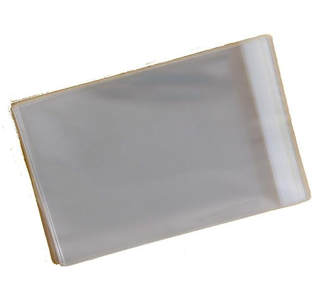 Celloexpress - Juego de 100 fundas de celofán para fotografías tamaño A4 (medidas 220 x 297 mm, solapa autoadhesiva de 30 mm), color transparente