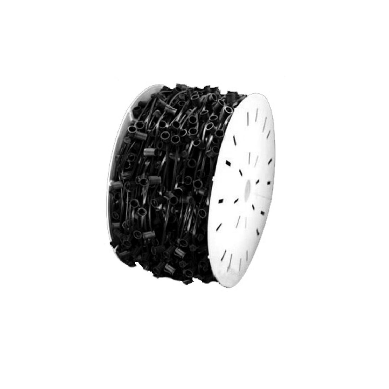 Vickerman 1000' Commercial C9 Socket Sets Spool - 12'' Spacing Black Wire by Vickerman (Image #1)