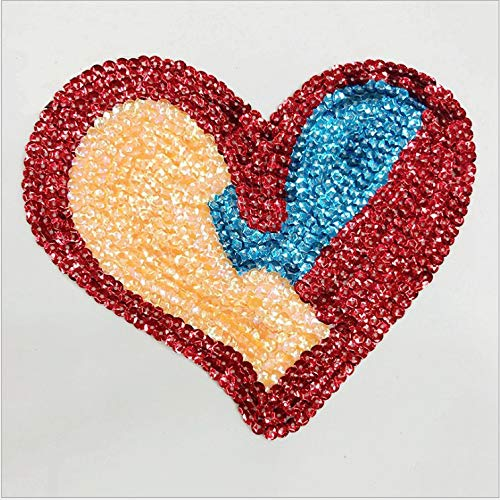 l Splice Love Heart Beaded Lace Applique Paillette Fabric Sweater Clothes Patch Sequined - Mold Dress Gold Shorts Travel Suede Blue Nigerian Necklace Crane Pumps Gloves ()