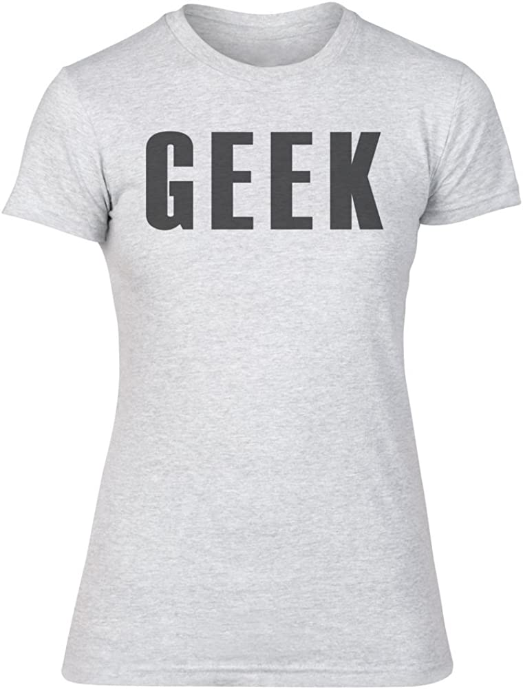 IDcommerce Geek Funny Person Womens T-Shirt XX-Large Gray