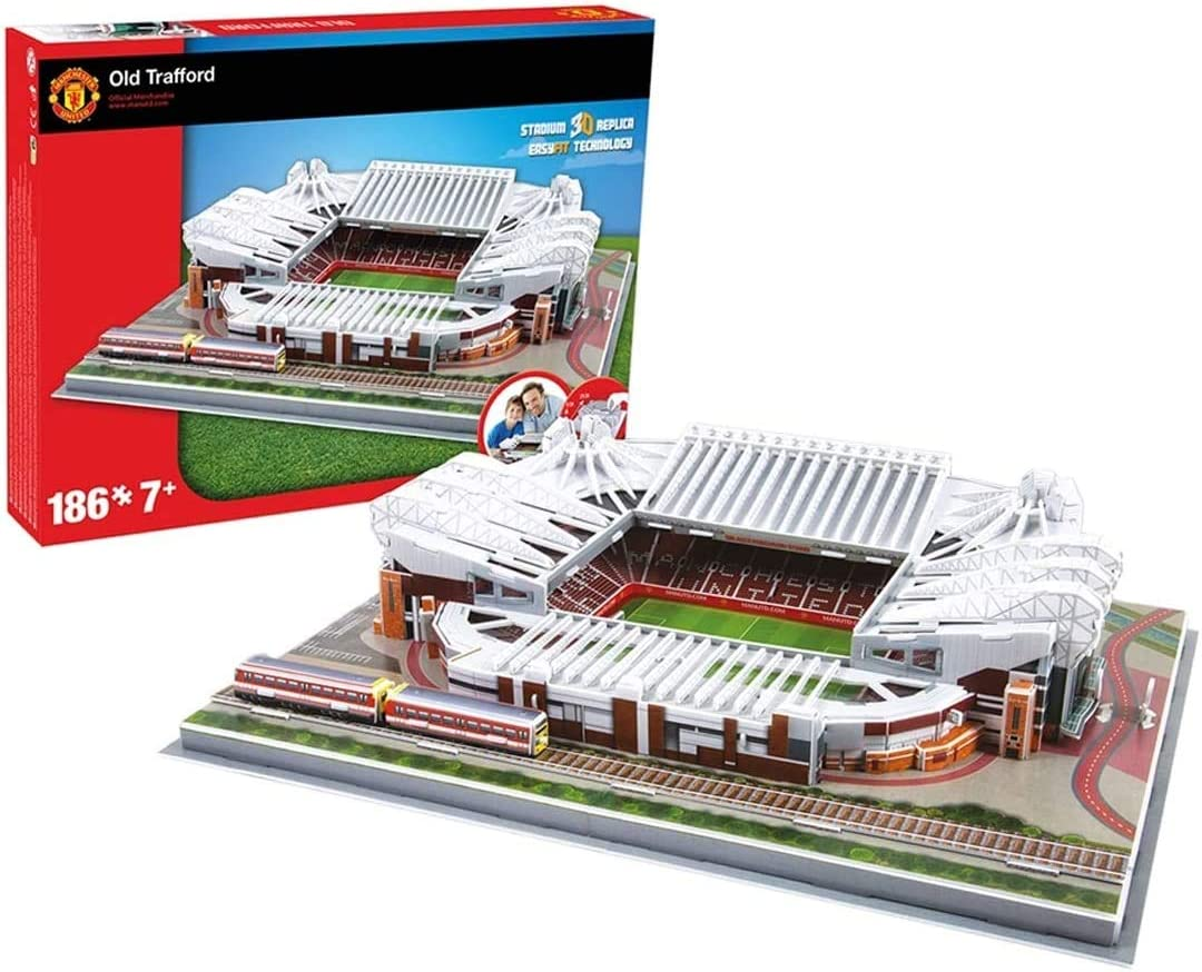 Nacido Perfecto Kingspa Manchester United Old Trafford Stadium 3D Puzzle Kids and Adults Football Stadium Series Easy Click Technology Pieces Fit Together
