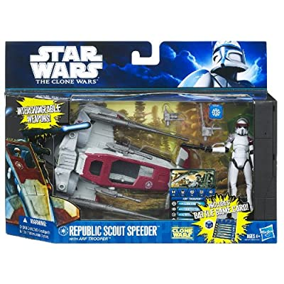Star Wars Republic Scout Speeder: with ARF TROOPER: Toys & Games
