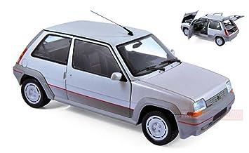 NOREV NV185209 RENAULT SUPERCINQ GT TURBO 1985 SILVER 1:18 MODELLINO DIE CAST: Amazon.es: Juguetes y juegos