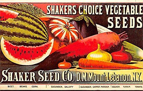 Shaker Choice Vegetable Seeds Mount Lebanon, New York, NY, USA Postcard