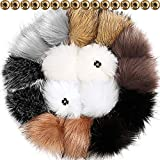 4936afa4d9c Tatuo DIY Faux Fur Pom Poms Ball with Press Button Removable Fluffy Pompom  for Knitting Hats