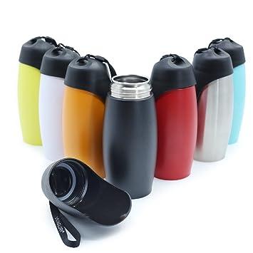 Amazon.com: Vivaglory Botella de agua para perro, de acero ...