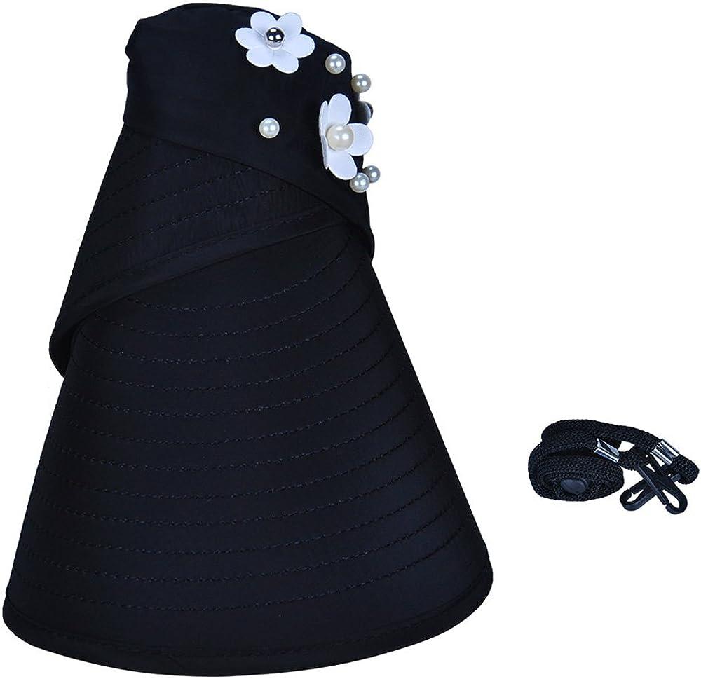 Oyachic Foldable Sun Hat Wide Brim Adjustable Cap Anti UV Waterproof Sunbonnet