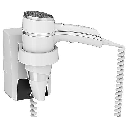 JVD secador de pelo blanco 1600 W + Soporte de pared con on/off