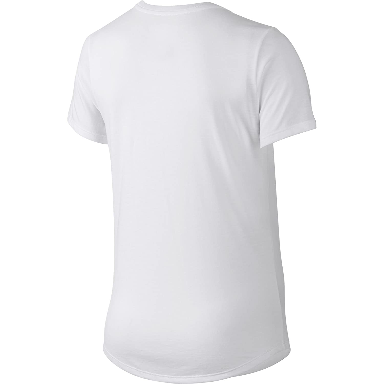 be58375a4137 Amazon.com  Nike Run Print Orgametric Swoosh Women s T-Shirt White Black  776636-100 (Size XS)  Clothing