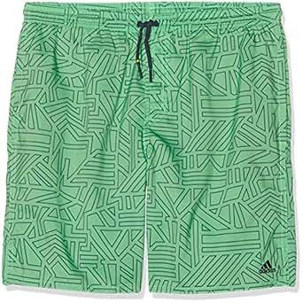adidas Boys' Performance Swim Shorts, Shock Lime/Trace Blue(Green), 116(5-6 Years)