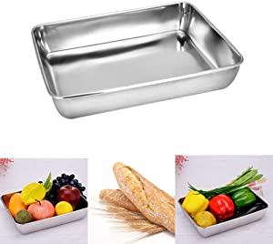 Baking Cookie Sheets Pan,Jelly-Roll Pans Roasting Pan,Stainless Steel Baking Pans Tray Cookie Sheet,Nonstick Toaster Oven Baking Sheet Pans, Easy Clean & Dishwasher Safe (16.2'' x 12.6'')
