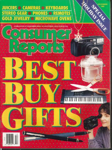 CONSUMER REPORTS Microwaves, telephones, cameras, electronic keyboards + 12 1992